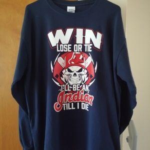 Cleveland Indians Gildan Navy Long Sleeve Shirt XL